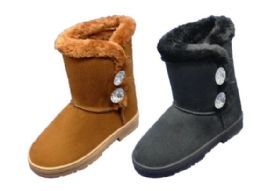 24 Units of Women's Winter Fashion Boots With Fur Lining - Women's Boots