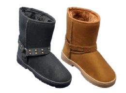 24 Units of Women's Winter Boots With Fur Lining - Women's Boots