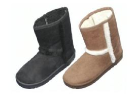 24 Units of Women's Winter Boots With Fur Lining & Fur Design - Women's Boots