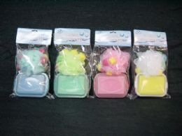 36 Units of SHOWER SPONGE WITH SOAP CASE - Toilet Paper Holders