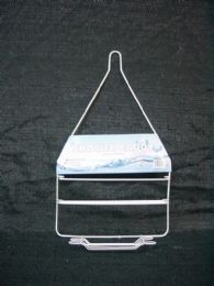 48 Units of Shower Caddy Wire White With Soap Holder - Bathroom Accessories
