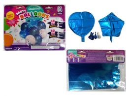 144 Units of 8 Pc Party Balloon Set- Blue Only - Balloons & Balloon Holder