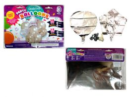 144 Units of 8 Pc Party Balloon SeT- Silver Only - Balloons & Balloon Holder
