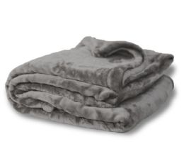 12 Units of Oversized Mink Touch Blankets- Grey Color - Blankets & Bedding