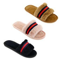 36 Units of Women's Fashion Slide Winter Slippers - Women's Slippers