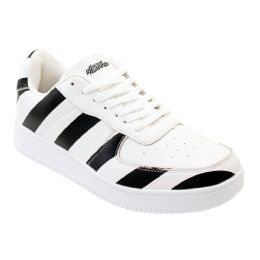 12 Units of Men's Striped Casual Sneakers - Men's Sneakers