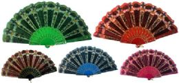 48 Units of Hand Fan With Assorted Design - Novelty & Party Sunglasses