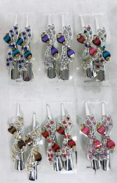 48 Units of Metal Hair Clamp Rhinestone Bow Design - Hair Products