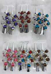 48 Units of Metal Hair Clamp Rhinestone Butterfly Design - Hair Products