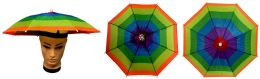 48 Units of Umbrella Hats Assorted Colors Foldable - Umbrellas & Rain Gear