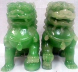 24 Units of Green Color Lion 2 Pieces set - Home Decor
