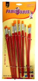 48 Units of Artist Brush 10 Pieces Set - Paint and Supplies