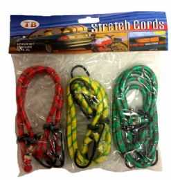 48 Units of 6 Pieces Bungee Cord Assorted Size - Bungee Cords