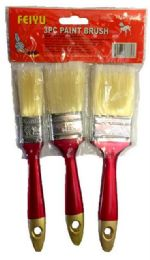 48 Units of 3 Pieces set Paint Brush - Paint and Supplies
