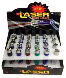 48 Units of 3 in 1 Laser Flash Light with keychain - Flash Lights