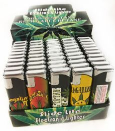 150 Units of Marijuana Graphic Child Resistant Refillable Lighter - Lighters