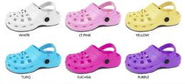 36 Units of Girl's Blown EVA Garden Shoe - Women's Slippers