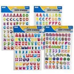 96 Units of 142pc Alphabet/numbers Stickers - Stickers