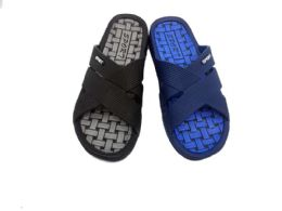 36 Units of Mens Slip On Sandals With Chequered Sole - Men's Flip Flops and Sandals