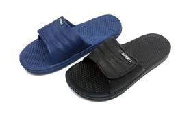 36 Units of MENS SLIP ON SANDALS WITH VELCRO CLOSURE - Men's Flip Flops and Sandals