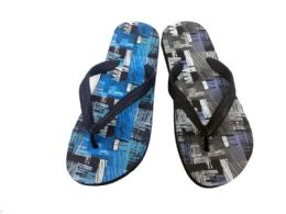 36 Units of MENS FLIP FLOPS WITH ABSTRACT PRINT - Men's Flip Flops and Sandals