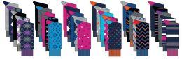 60 Units of Men's Casual Cotton Dress Socks - Assorted Prints - Size 10-13 - 5-Pair Packs - Mens Crew Socks