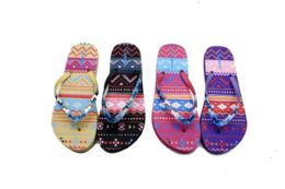 48 Units of Designer Print Women's FliP-Flops With - Women's Flip Flops
