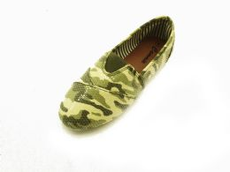 18 Units of Women' Camouflaged Slip On Shoes - Women's Footwear