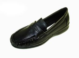 18 Units of WOMENS MOCCASIN STYLE SLIDE ON SHOES IN BLACK - Women's Flats