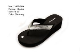36 Units of DAZZLER WOMENS WEDGE SANDALS WITH RHINESTONES - Women's Sandals