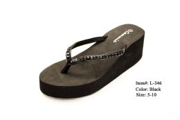 18 Units of EBONY WEDGE STYLE WOMEN'S SANDALS - Women's Sandals