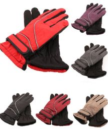 72 Units of Womens Thermal Lining Waterproof Winter Ski Gloves - Ski Gloves