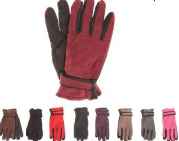 72 Units of Womens Thermal Lining Gripper Palm Ski Gloves - Ski Gloves