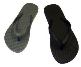 48 Units of WOMENS BASIC FLIP FLOPS IN BLACK AND GREY - Women's Flip Flops