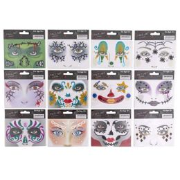 48 Units of Sequin Halloween Face Art - Halloween & Thanksgiving