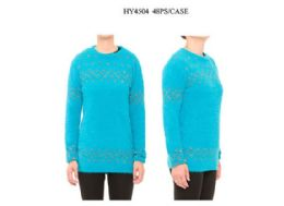 24 Units of Womens Long Sleeve Pullover Tunic Sweater - Womens Sweaters & Cardigan