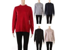 24 Units of Womens Long Sleeve Soft Pullover Knit Sweater - Womens Sweaters & Cardigan