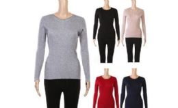 24 Units of Womens Long Sleeve Button Causal Tops Blouse T Shirt - Womens Sweaters & Cardigan