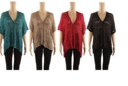 24 Units of Womens Cozy Knitted Pullover V Kneck Sweater Wrap Shawl - Womens Sweaters & Cardigan