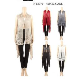 24 Units of Women's Cozy Knitted Pullover V Kneck Sweater Wrap Shawl - Womens Sweaters & Cardigan