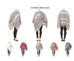 24 Units of Womens Warm Shawl Wrap Cape Winter Cardigan Sweaters - Womens Sweaters & Cardigan