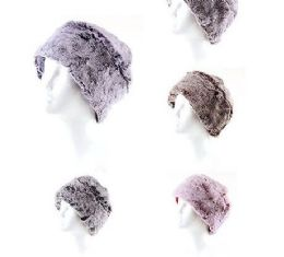 72 Units of Womans Heavy Knit Winter Hat Plush Knit Hat Fleece Lined Assorted Color - Winter Hats
