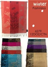 144 Units of Winter Floral Pashmina Shawl - Winter Scarves