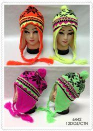 72 Units of Fluorescent Neon Helmet Hat - Winter Helmet Hats