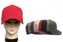 120 Units of Assorted Color Baseball Caps - Baseball Caps & Snap Backs
