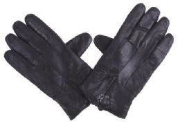 72 Units of Men's Black Leather Glove - Leather Gloves