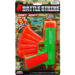 """48 Units of 6.5"""" TOY GUN WITH SOFT DARTS ON BLISTER CARD - Toy Weapons"""
