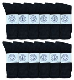 6000 Units of Mens Black Crew Socks 10-13 - Mens Crew Socks