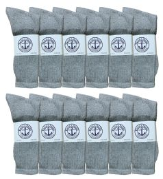 6000 Units of Mens Gray Crew Socks 10-13 - Mens Crew Socks