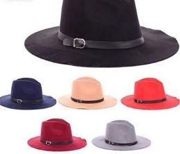 36 Units of Ladies Assorted Color Sun Hat With Buckle - Sun Hats